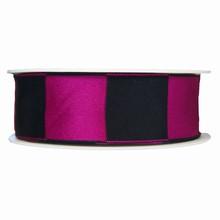 Black and fuschia square motif ribbon