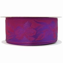 Violet monochrome ribbon with iris motif