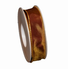 Iridescent brown ribbon 1in
