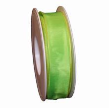 Harlequin green ribbon 1in