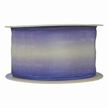 r609 Ombre ribbon striped periwinkle and white