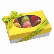 cc101m 1/2lb Square Yellow Macaron rect. box