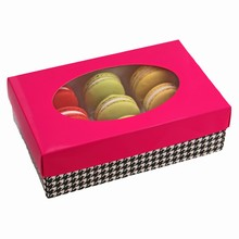 cc2252m 1/2lb Square Fuschia Macaron rect. box
