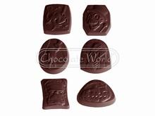 CW1497 Moule Chocolat Asst Halloween