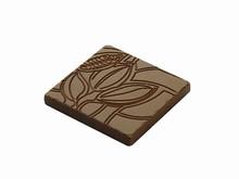art13851 Moule chocolat caraque motif cabosse