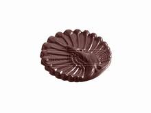 CW2250 Moule Chocolat Caraque Paon
