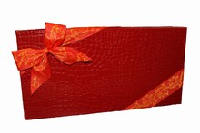 9176332 Rigid 32ct Red croco illusion box