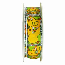 r112 Yellow and Green Clothilde Ribbon 1in