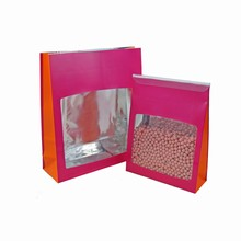 9335RO Pink and Orange Standing Pouch Bag