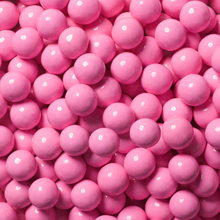 candy coated choc. flavored pink