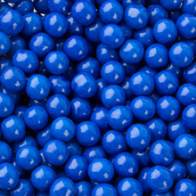 Sixlets décor chocolaté bleu royal