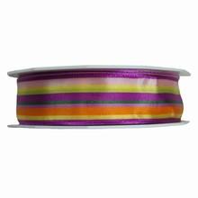 r152 Ruban strié couleurs printannières