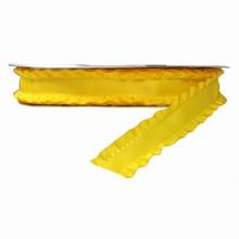 r099 Ruban à volant jaune 25mm