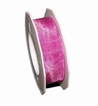 r537 Sheer raspberry ribbon 1in