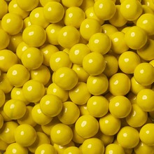 candy coated choc golden yellow