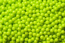 Decorative lime green sugar pearls