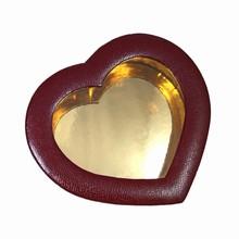 9254HT1 Leather Illusion Bordeaux Heart Box