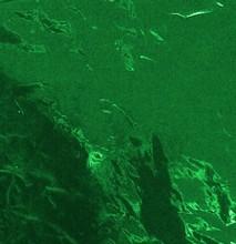 6x6 dark green confectionary foil