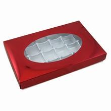 CC2003 1lb Metallic Red Rect. White Base