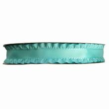 r563 Aqua ruffled ribbon 1in