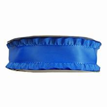 Royal blue ruffled ribbon 1.5in