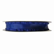 Navy blue ruffled ribbon 1.5in