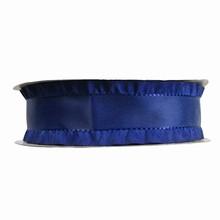 Navy blue ruffled ribbon 1in