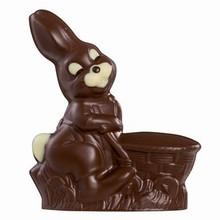 MAC661 moule chocolat de lapin avec panier