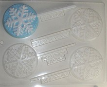 C161 Snowflake lolly mold