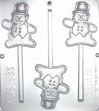 CML2134 Snowman lolly mold