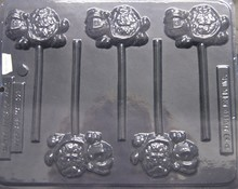 Merry Xmas Turtle lolly mold