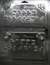 Braille Christmas Theme Plaque Mold