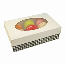 Kit Macaron 1/2lb Rect. White with houndstooth base