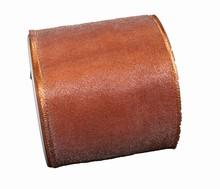 Sheer metallic copper ribbon 80mm