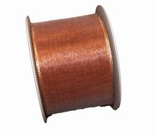 Sheer metallic copper ribbon 68mm