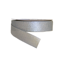 RB73 Sparkly Silver Ribbon 1in