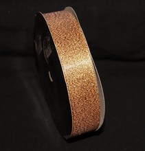 rb74 Sparkly gold ribbon 1in