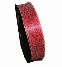 rb75 Sparkly red ribbon 1in