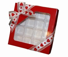 cc138 boîte rouge 1/2lb carré 16ct