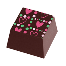 Pink Hearts with Dots Transfer Sheets