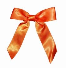 bow146 boucles orange