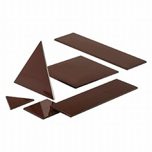 B157B Moule Chocolat Montages Graphiques Triangles