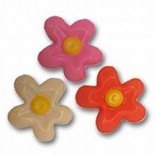 Plaque thermoformée Fleurs Rose, Orange et Blanc