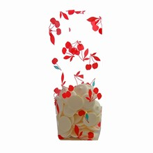 Cherry print cello bag