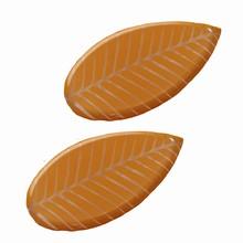 Plaques thermoformées feuilles marrons
