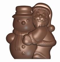 Art16496  Santa Claus + Snowman