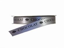 rc117 Ruban gris 'chocolat' noir