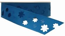 rf34b Ruban bleu ciel découpage fleur
