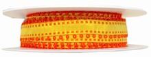 rj66 Ruban jaune avec picots orange