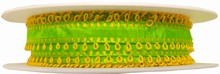 rp41 Lime Green Ribbon with Yellow Picots